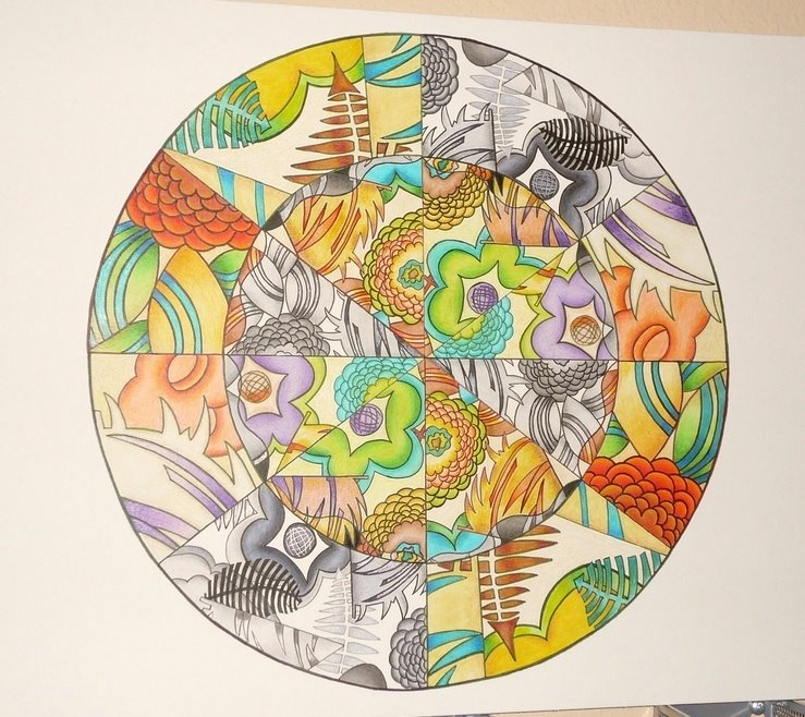 Tropical island art deco mandala thingy part 2 or how to beat up on its fine though i learned alot if it takes two years to fully learn any medium i got a compressed education with this project and learned much about solutioingenieria Choice Image